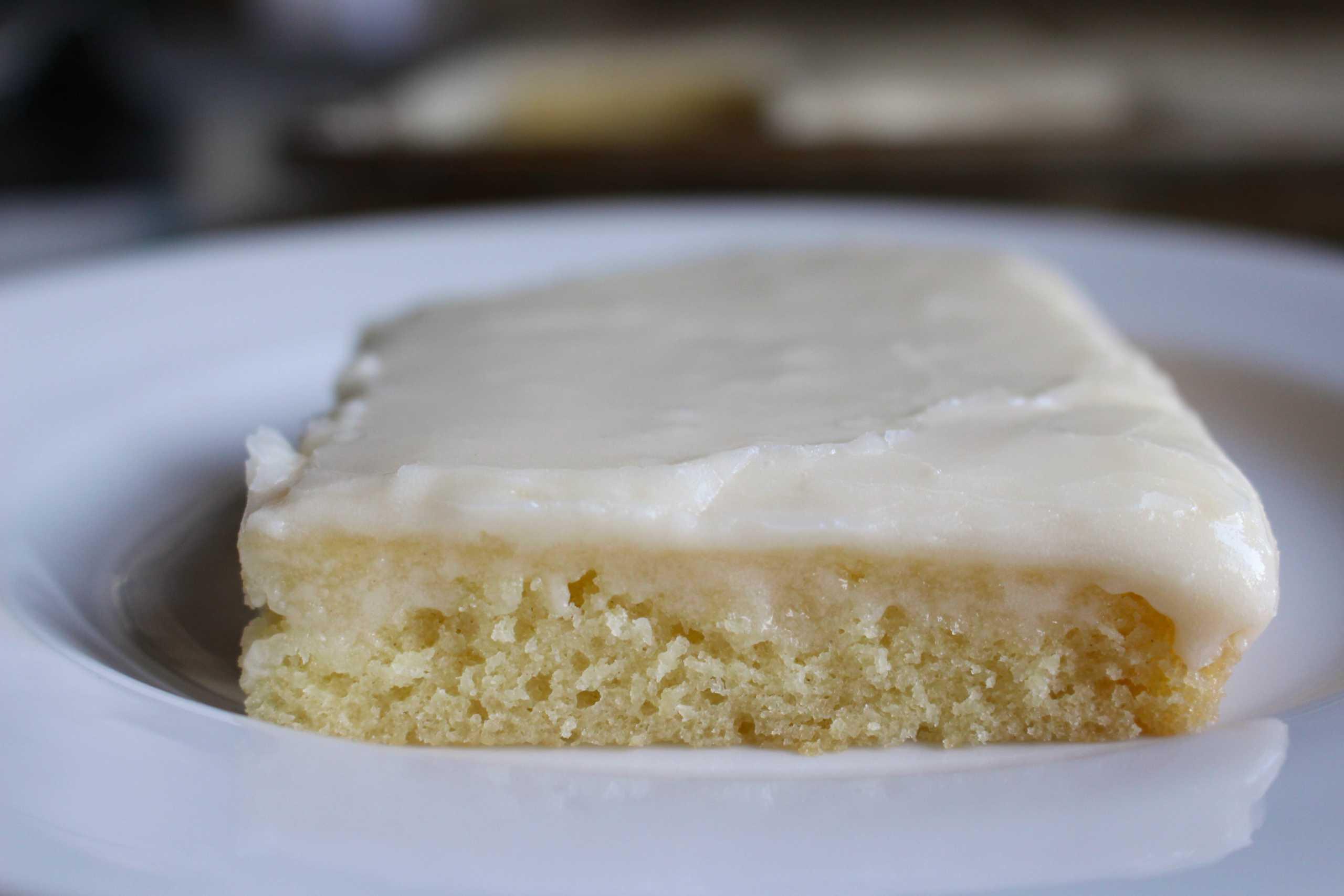 Texas sheet cake slice