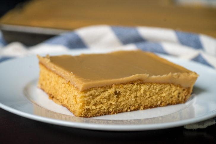 Slice of caramel cake