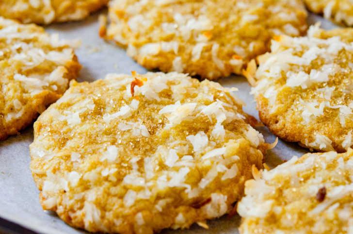 Close up of carolina cookies