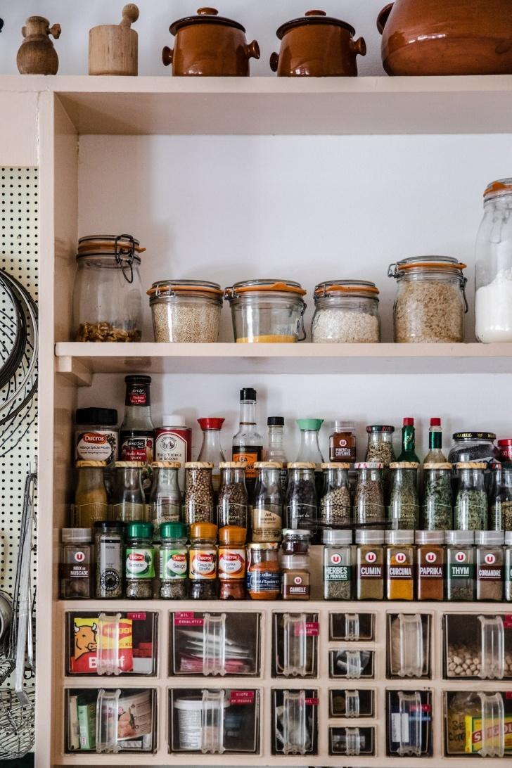 the kitchen at La Pitchoune