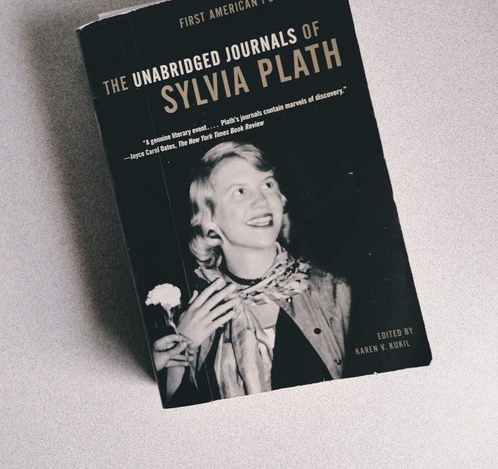 Sylvia Plath journals book cover