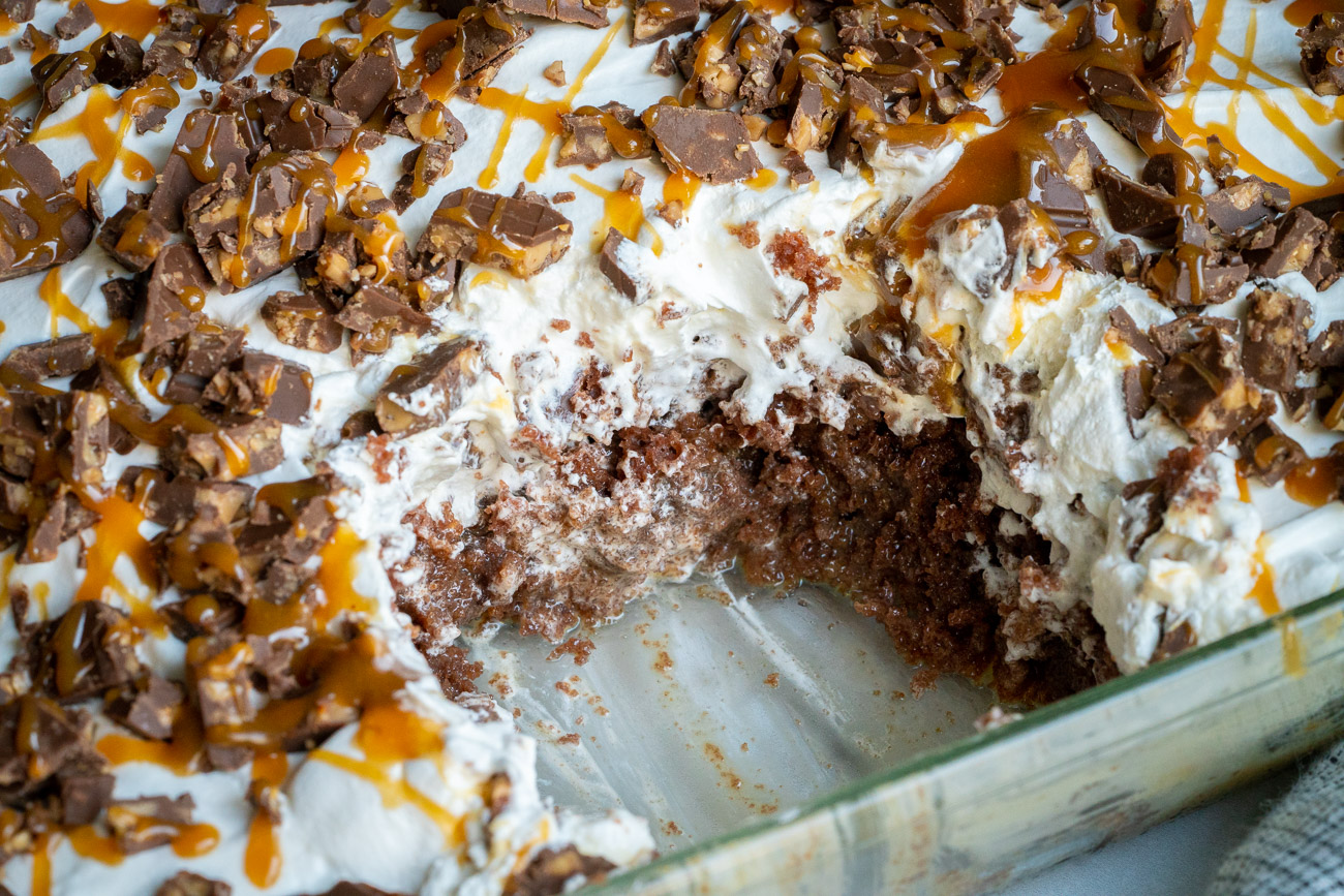 Pan of Paul Newman cake