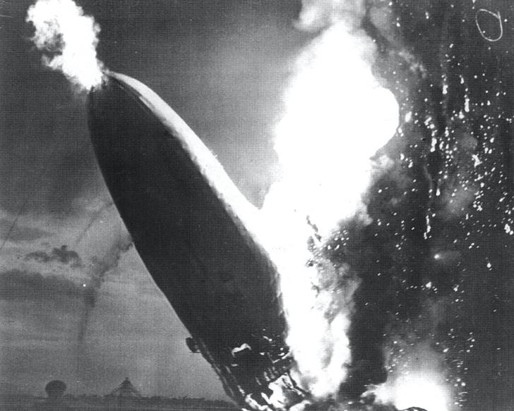 1937 catastrophic crash of the Hindenburg