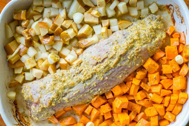 pork tenderloin and sweet potatoes