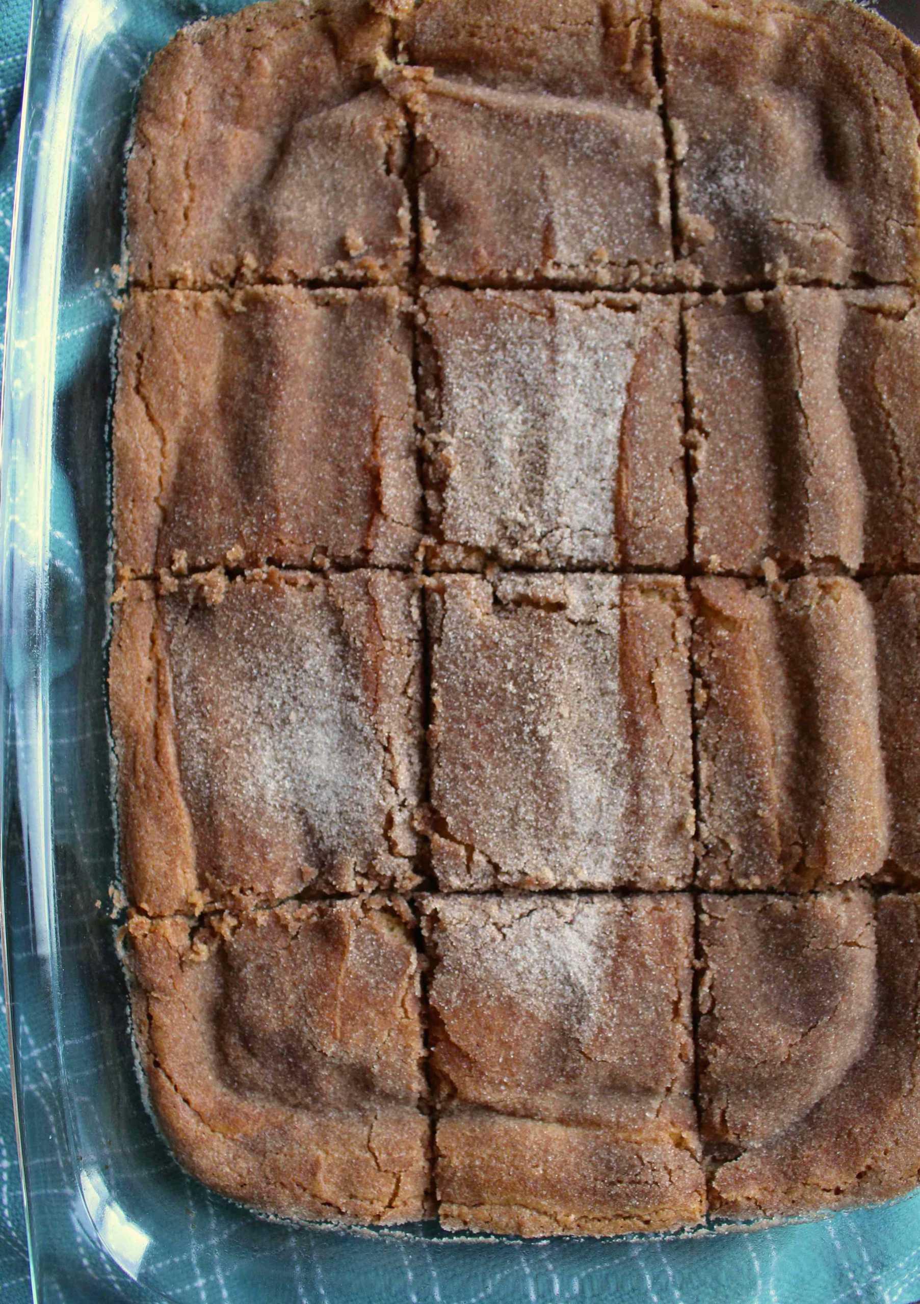 Snickerdoodle bars cut