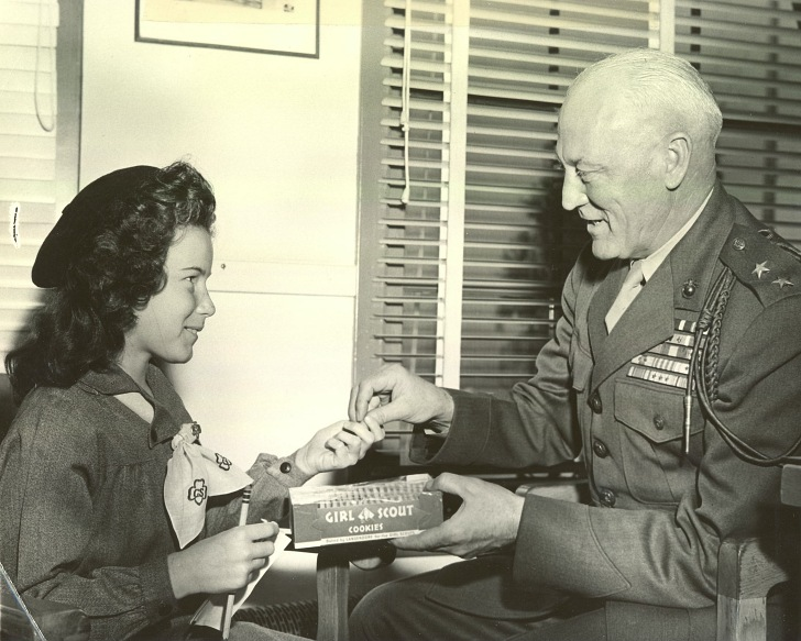 girl scout cookies to general erskine 1945