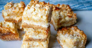 Tropical coconut and pineapple bars