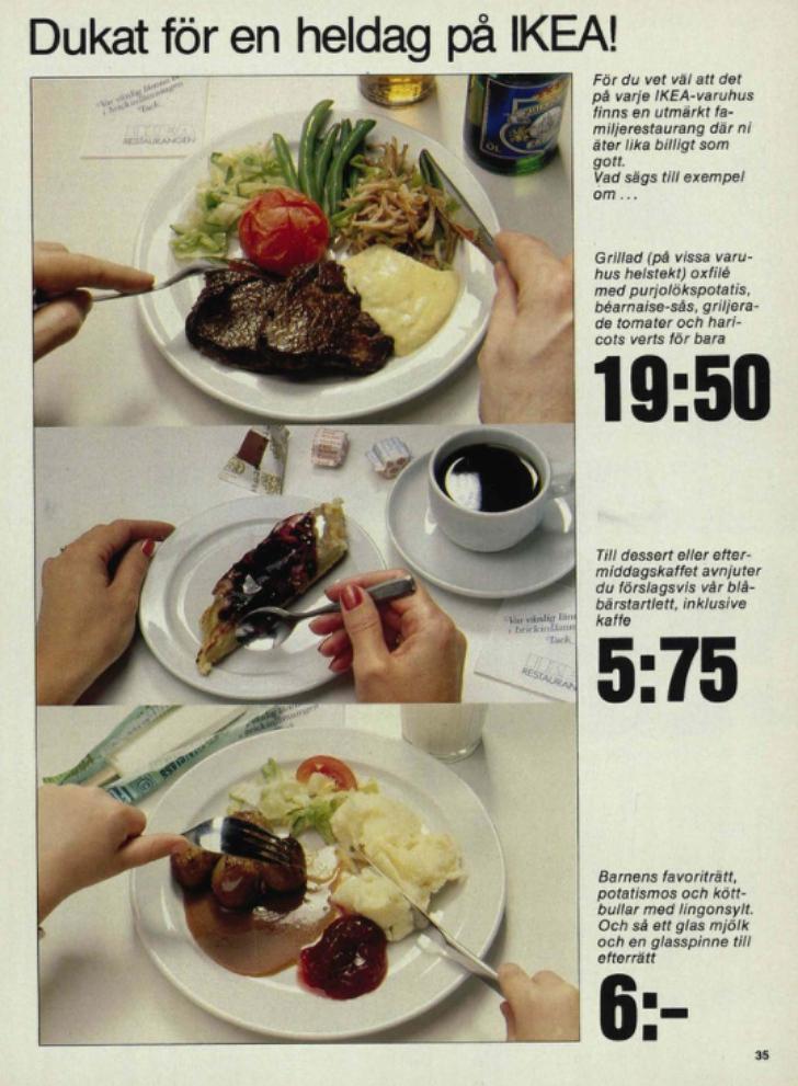 1980 IKEA catalog cafe page