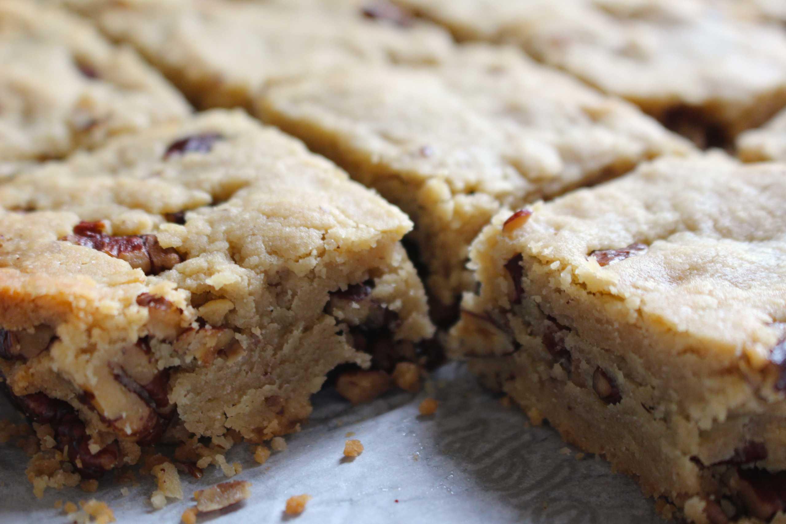 butter pecan shortbread cookie