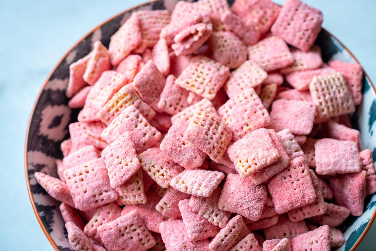 Strawberry Shortcake Puppy Chow