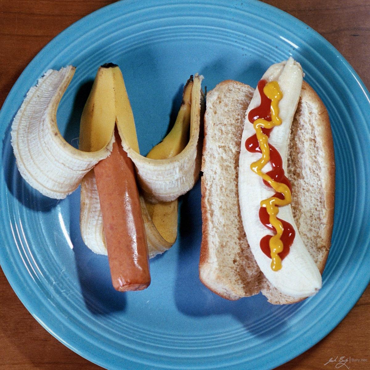 hot dog and banana art photo