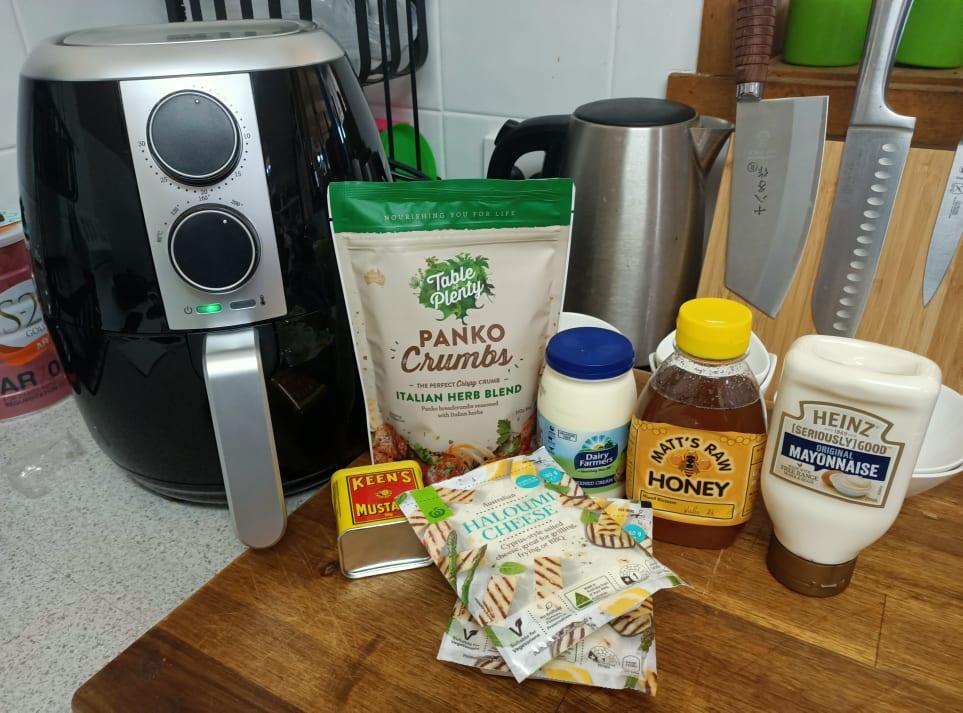 Panko Halloumi Ingredients