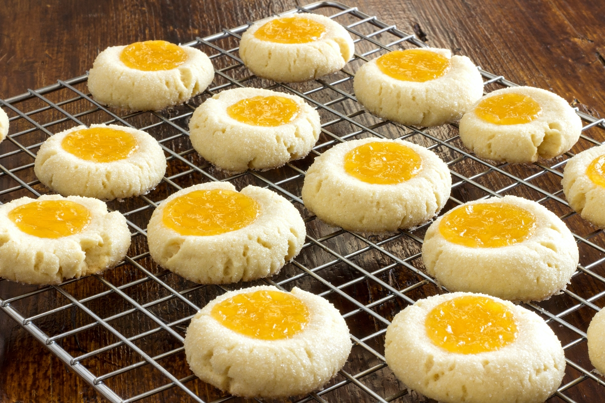 Lemon Curd Shortbread Thumbprints