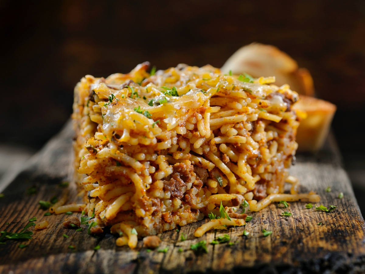 Baked Beef Spaghetti