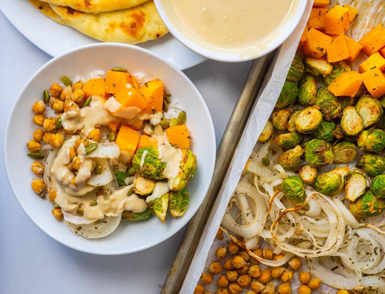 Fall harvest sheet pan dinner
