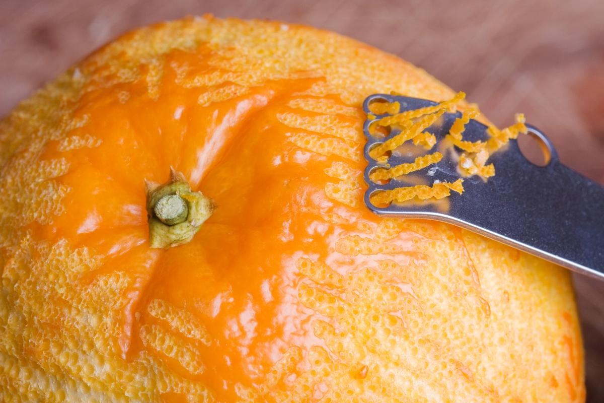 Orange Zest for Orange Cranberry Scones