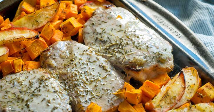 sheet pan honey glazed pork chops