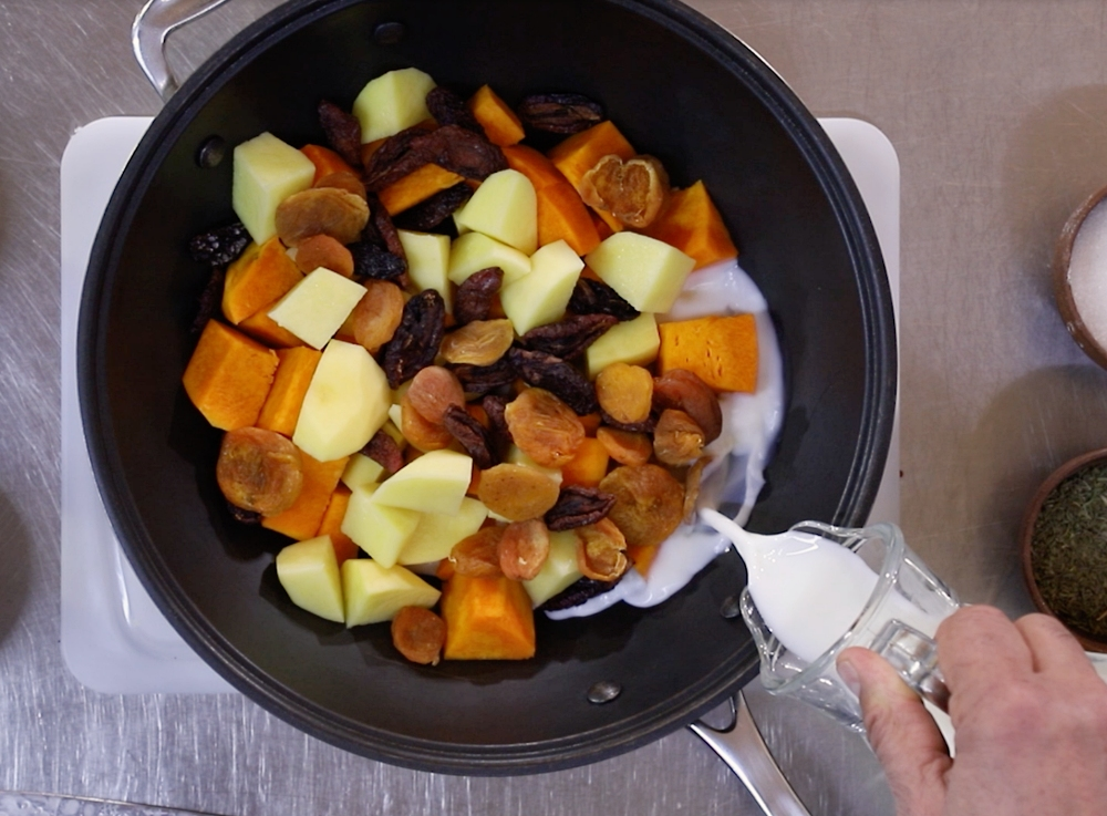 Hali (Mashed Potatoes with Pumpkin)