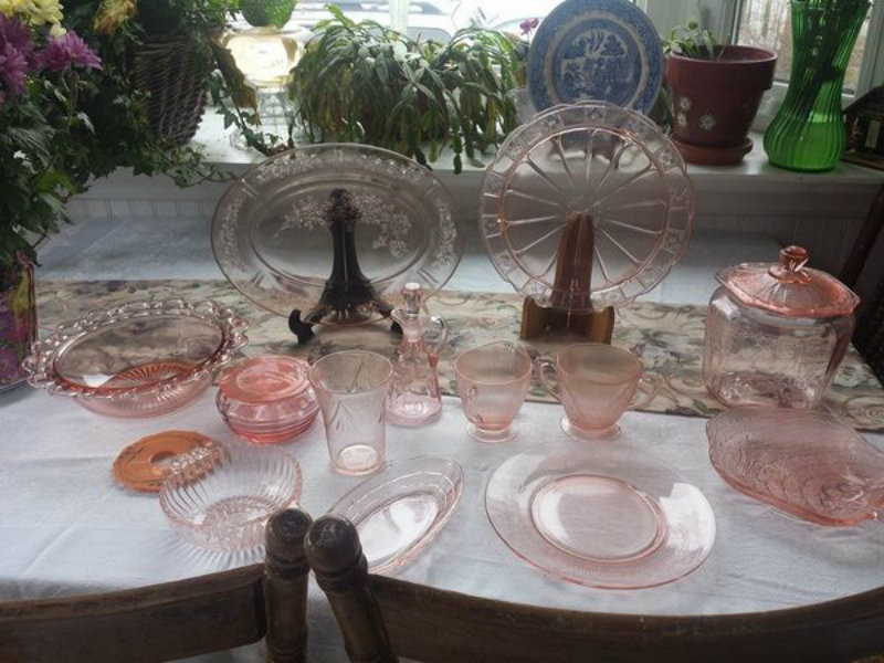 Tiara Glass Purple Glass Tray with Flowers made into glass  Made by Smith Glass for Tiara Glass Food Tray Dresser Tray Tiara Glass Tray
