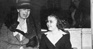 Shirley Temple Sitting with Eleanor Roosevelt