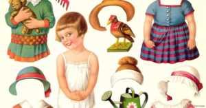 1920s Vintage Paper Doll