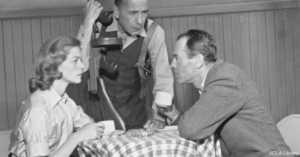 Henry Fonda with Humphrey Bogart and Lauren Bacall