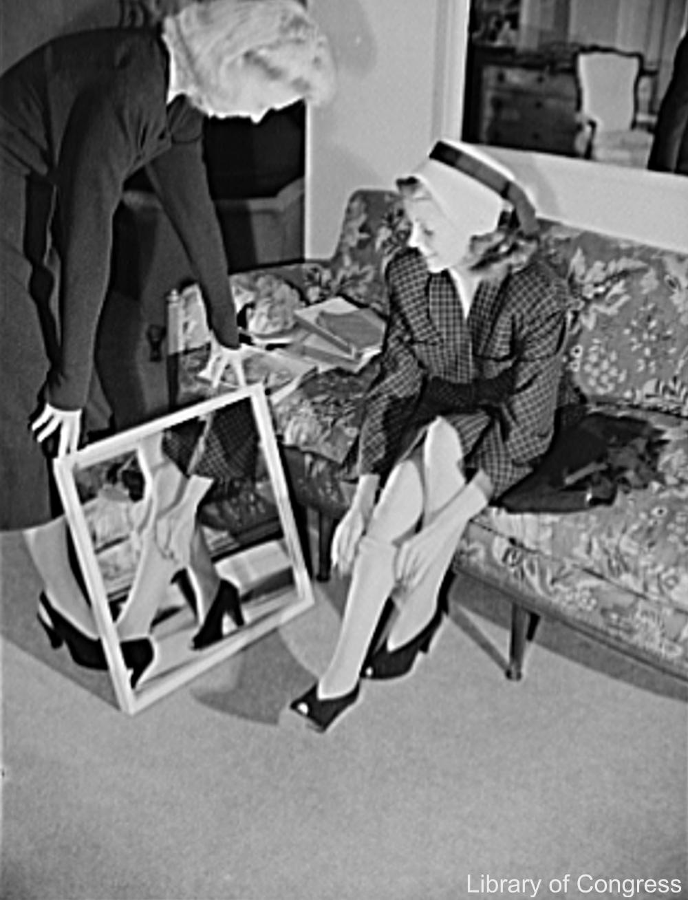 Rita Hayworth Promoting Cotton Stockings for the War Effort