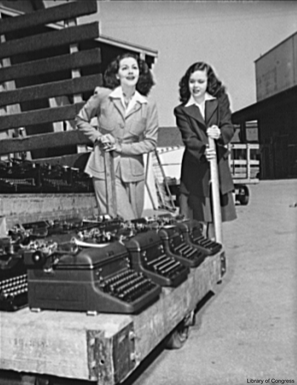 Gloria Jean and Maria Montez Promoting the War Effort