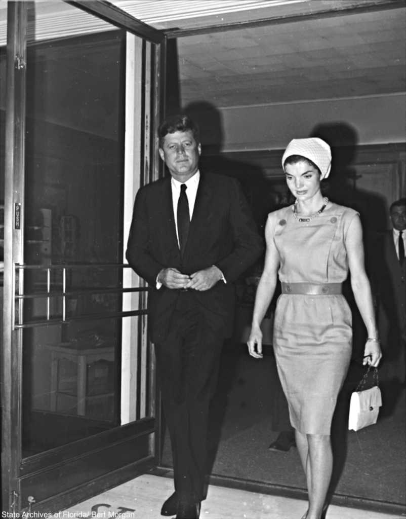 John F. Kennedy and Jackie Kennedy 1961