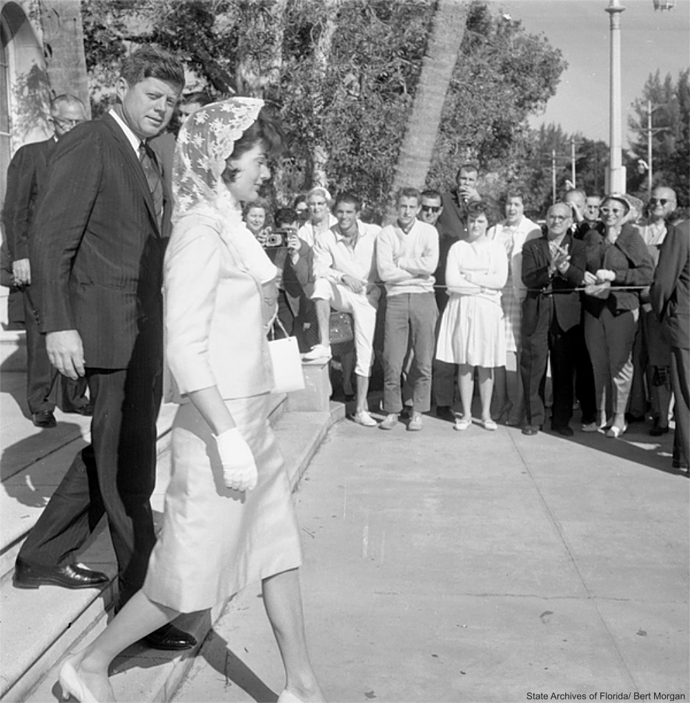 JFK and Jackie Kennedy Coming From Church Florida 1961