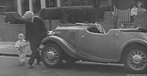 Father and Son with Car in 1949