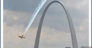 Flight Over St. Louis Arch