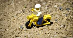 Lego Man on Lego Motorcycle