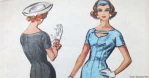 1950s dress pattern
