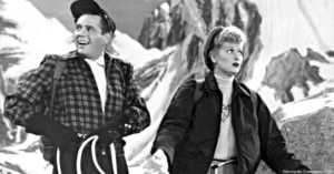 Lucille Ball and Ricky Ricardo 1956