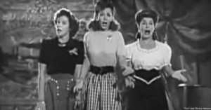 Marhta Raye, Mitzi Mayfair, and Carole Landis