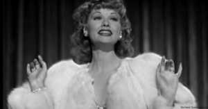 Lucille Ball singing Jitterbig Bite in Dance, Girl, Dance (1940)