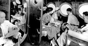 Sikorsky plane interior, 1934.