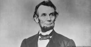 Civil War-era photograph of President Lincoln.