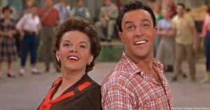 Judy Garland and Gene Kelly dance together in Summer Stock 1950