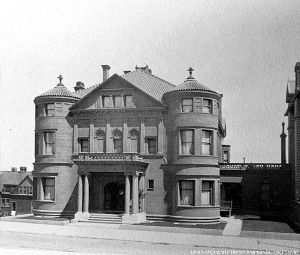 The Whittier Mansion in 1910,  San Fransisco, CA. V