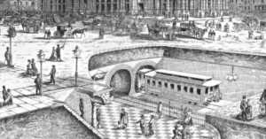 NYC's first subway in 1869