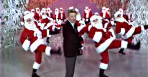 Danny Kaye and the dancing Santas