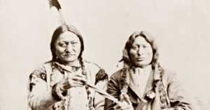 How did Sitting Bull end up in a traveling show?