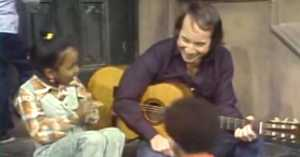 Little Girl Gets Really Excited to Sing with a Celebrity on Sesame Street in 1978
