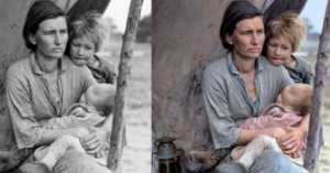 These Side by Side Comparisons of Original Historic Photographs and Their Modern Colorized Versions Will Wow You!