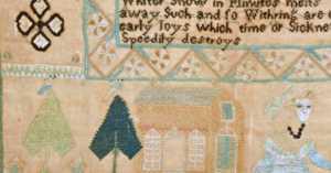 1803 sampler by Elizabeth Stine