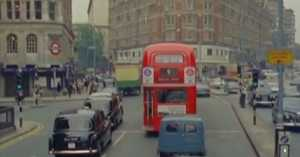Driving Through London in the '50s in Color
