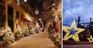 Christmas decorations in Bethlehem, Pennsylvania
