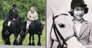 Queen Elizabeth II has always enjoyed horseback riding